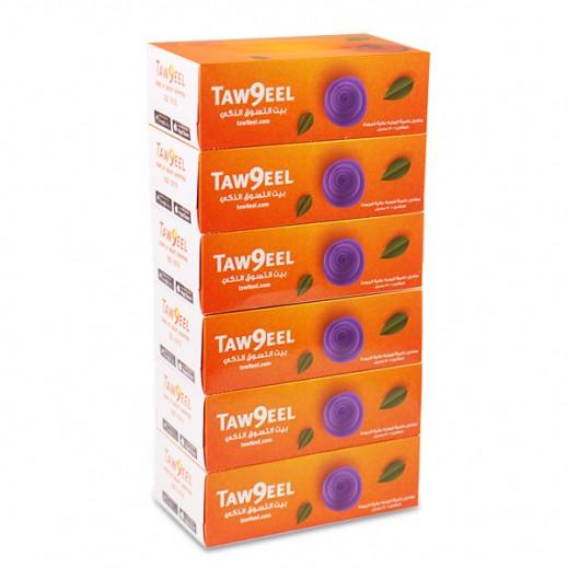 توصيل - مناديل للوجة 150 منديل ( 6 حبة )