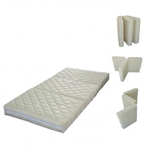 سفاري - مرتبة مكونة من 3 قطع - كريمي (190 × 90 × 6 سم) - يتم التوصيل بواسطة البغلي المتحدة للإسفنج