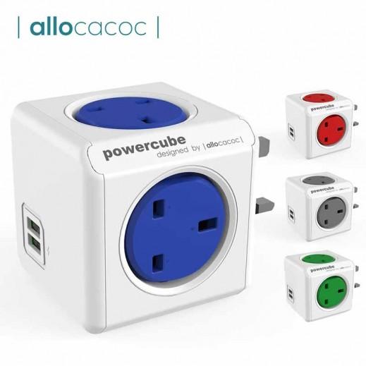 الوكاكوك  - موزع كهربائي بقوة 2990 واط 4 منافذ توزيع للطاقة مع منفذين USB