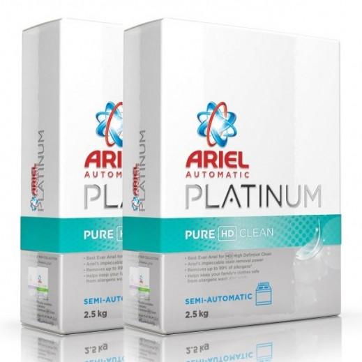 آريال – مسحوق غسيل بلاتينوم نظافة ونقاء للغسالات الأوتوماتيك 2×2.5 كجم )