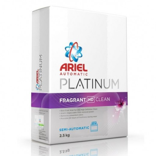 آريال – مسحوق غسيل بلاتينوم نظافة وإنتعاش للغسالات الأوتوماتيك 2.5 كجم
