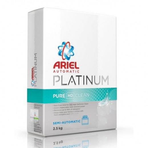 آريال – مسحوق غسيل بلاتينوم نظافة ونقاء للغسالات الأوتوماتيك 2.5 كجم