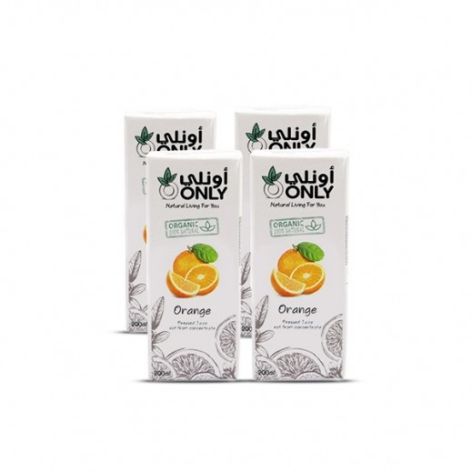 أونلي - عصير البرتقال العضوي 4 × 200 مل