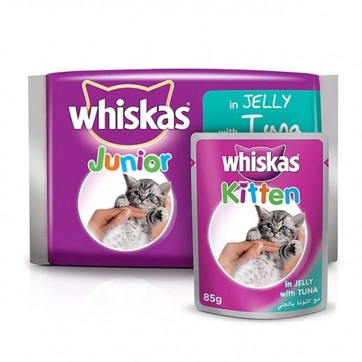 ويسكاس - وجبة طعام للقطط مع التونا بالجلي 6×85 جرام