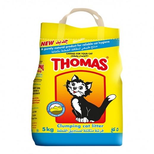 توماس – فرشة تراب متكتلة لصناديق القطط 5 كجم