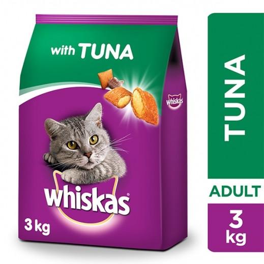 ويسكاس - طعام القطط البالغة بنكهة التونا 3 كجم