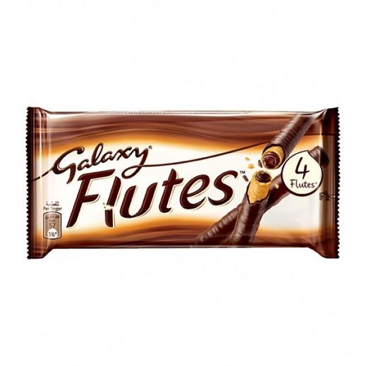 جالاكسي - شوكولاتة فلوتس 4 اصابع 12×45 جرام