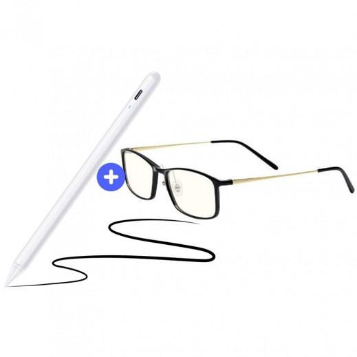 شاومي - نظارات كمبيوتر مضادة للضوء الأزرق + اى اس ار - قلم Digital Stylus لجهاز ايباد مزود بملحق مغناطيسى