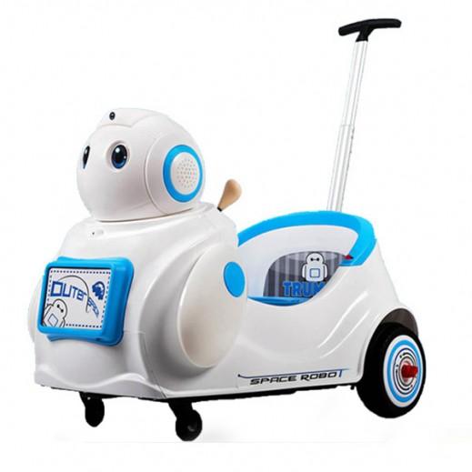 """سيارة سباقات للأطفال """"على شكل روبوت"""" (أزرق) - يتم التوصيل بواسطة كليك تويز خلال 2 أيام عمل"""