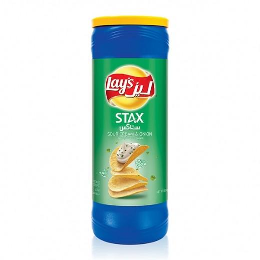ليز ستاكس - شيبس بطعم الكريمة الحامضة والبصل 155 جم