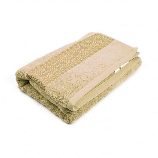 فيلدكرست - منشفة مطرزة للحمام - لون بني 81×163سم