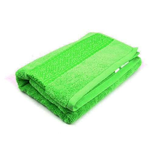 فيلدكرست - منشفة مطرزة للحمام - لون أخضر 81×163سم