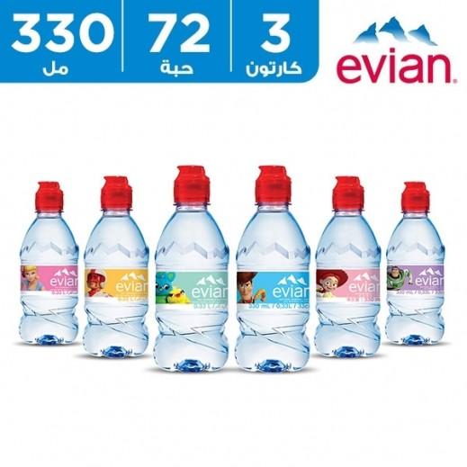 إيفيان – مياه طبيعية توي استوري لحديثي الولادة 72 × 330 مل