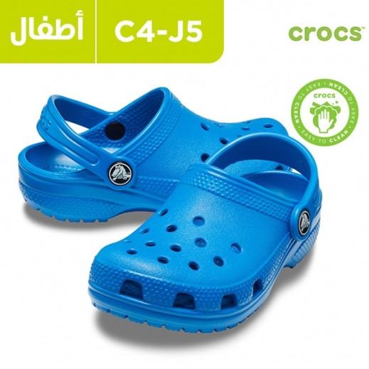 كروكس لكلا الجنسين أزرق - حذاء كلوج كلاسيك للأطفال