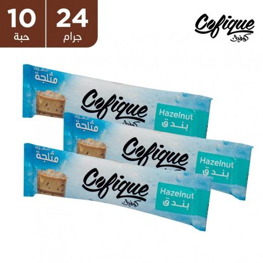 كوفيك مسحوق القهوة المثلجة بالبندق سريعة التحضير 24 جم (10 أكياس)