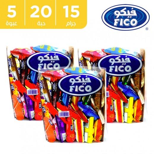 فيكو – بطاطا طبيعية نكهات متنوعة 20 × 15 جم (5 كرتونة)