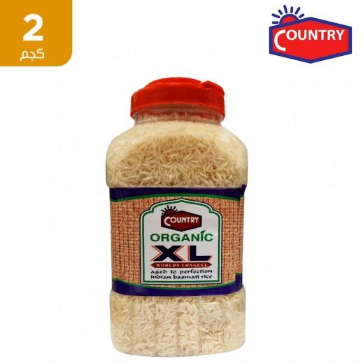 كانتري إكس إل - أرز بسمتي عضوي هندي 2 كجم