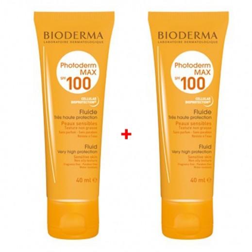 بايوديرما – سائل الحماية العالية من أشعة الشمس SPF100 عبوة 40 مل (1+1 مجانا) عرض خاص
