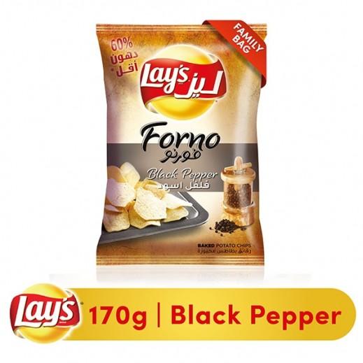 """ليز – رقائق بطاط مخبوة """" فورنو """" بالفلفل الأسود 170 جم"""