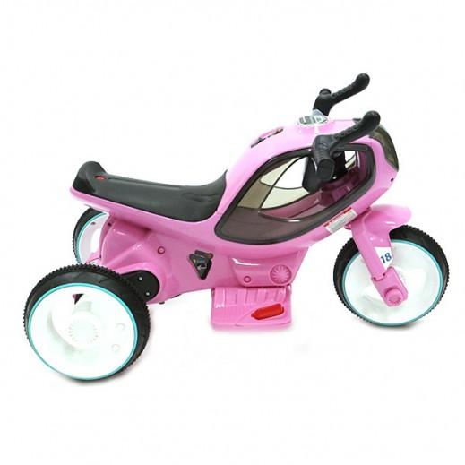 سيارة الكترونية للأطفال - وردي - يتم التوصيل بواسطة كليك تويز خلال 2 أيام عمل
