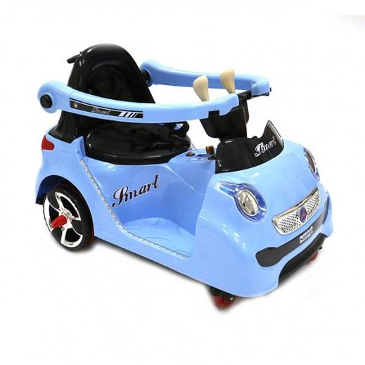 سيارة الكترونية للصغار - أزرق - يتم التوصيل بواسطة كليك تويز خلال 2 أيام عمل