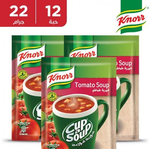 كنور  - شوربة الطماطم الفورية 12 × 22 جم