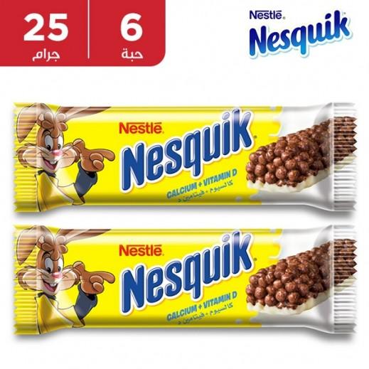 نستلة – ألواح حبوب الإفطار بالشوكولاتة 6 × 25 جم