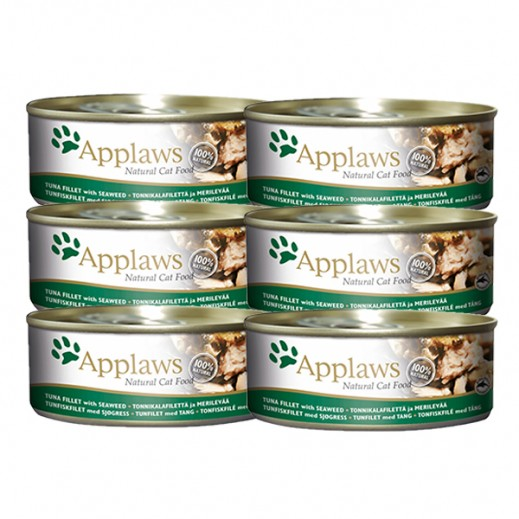 أبلوز – طعام القطط الطبيعي مع تونة فيليه والطحلب البحري 6 × 70 جرام