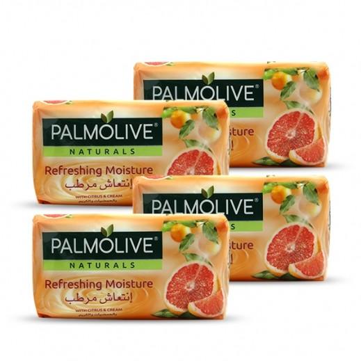 بالموليڤ – صابون متوازن وناعم بخلاصة الحمضيات والكريم 4 × 170 جم