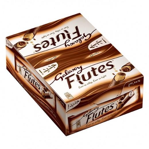 جالاكسي - شوكولاتة فلوتس - كرتون 24 حبة × 22.5 جم