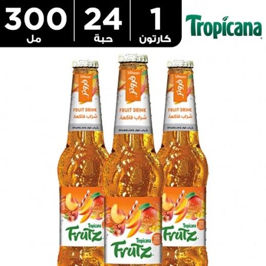 تروبيكانا - فروتز شراب فاكهة فوّار بالمانجو والخوخ  24 × 300 مل