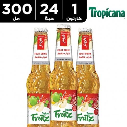 تروبيكانا - فروتز شراب فاكهة فوّار بالتفاح 24 × 300 مل