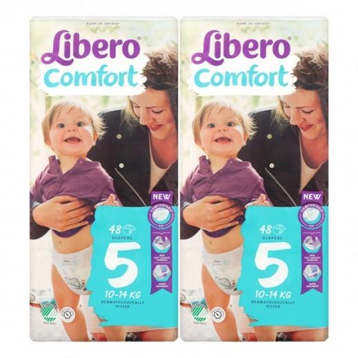 ليبرو – حفاضات أطفال كومفرت فيت المرحلة 5 (10 - 14 كجم) 2 × 48 حبة