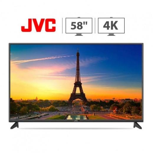 JVC - تلفزيون ذكى 58 بوصة 4k UHD LED - اسود - يتم التوصيل بواسطة Smart Stores