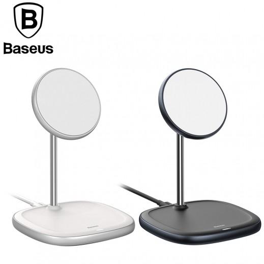 باسيوس - حامل هواتف مغناطيسي مع شحن لاسلكي للمكتب