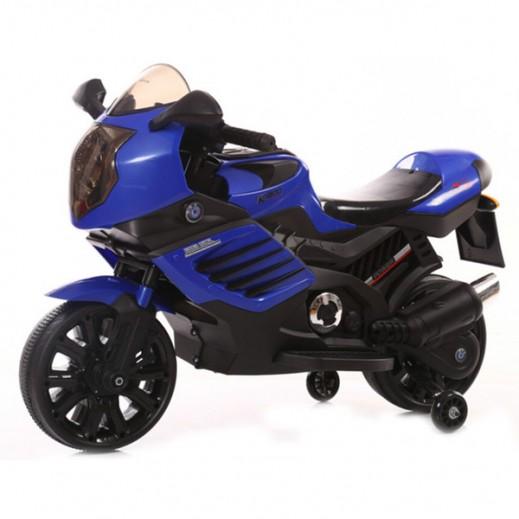 دراجة كهربائية للأطفال - (أزرق) - يتم التوصيل بواسطة Click Toys