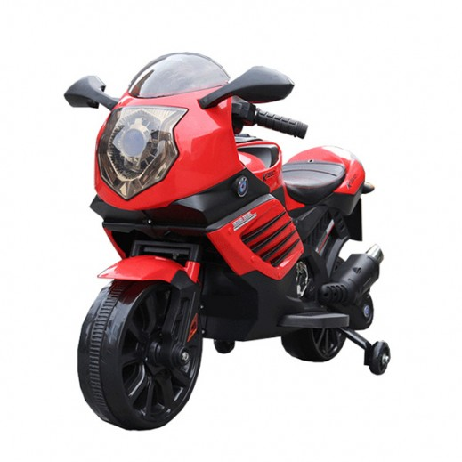 دراجة كهربائية للأطفال - (أحمر) - يتم التوصيل بواسطة Click Toys