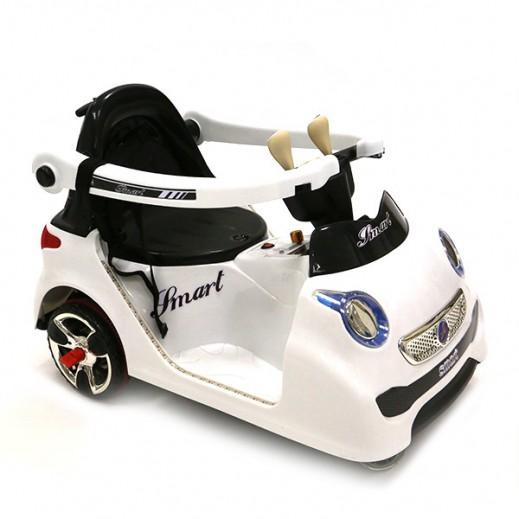 سيارة الكترونية للصغار - أبيض - يتم التوصيل بواسطة كليك تويز خلال 2 أيام عمل