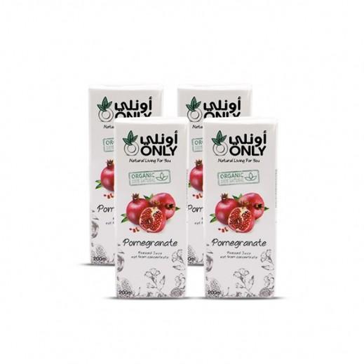 أونلي - عصير الرمان العضوي 4 × 200 مل