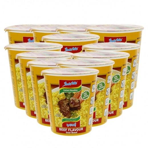 إندومي – شعيرية سريعة التحضير بنكهة البيف - كوب 60 جم × 12 حبة - أسعار الجملة