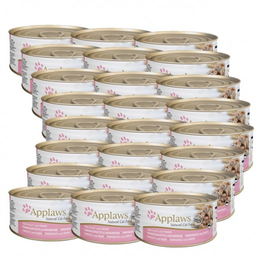 Wholesale - Applaws Natural Cat Food Tuna Fillet With Prawn 24 x 156 g