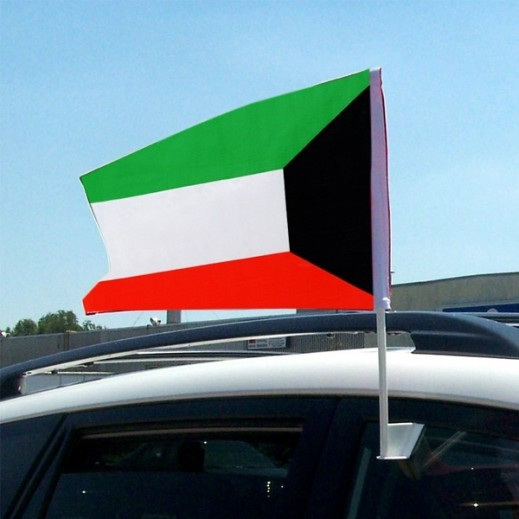 عدد 6 أعلام الكويت للتعليق بالسيارة