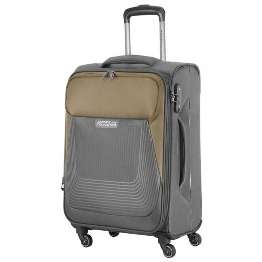أميريكان تورستر – حقيبة سفر (ساوثسايد) سوفت بعجلات - 55 سم - رمادي