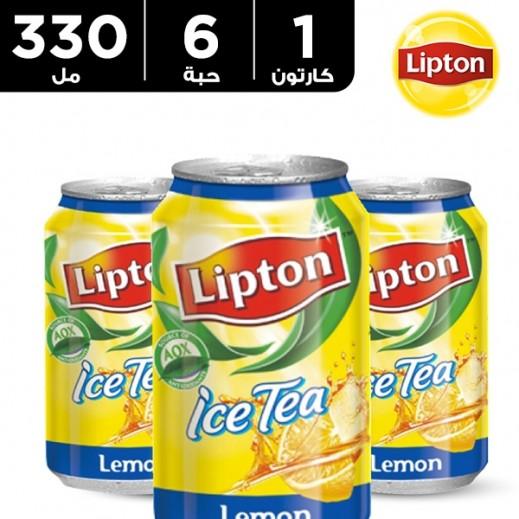 ليبتون - شاي مثلج بالليمون 330 مل × 6 حبة