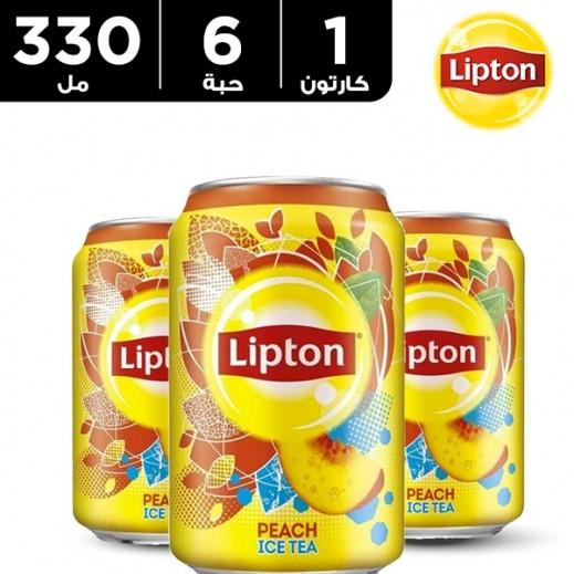ليبتون - شاي مثلج بالخوخ 330 مل × 6 حبة