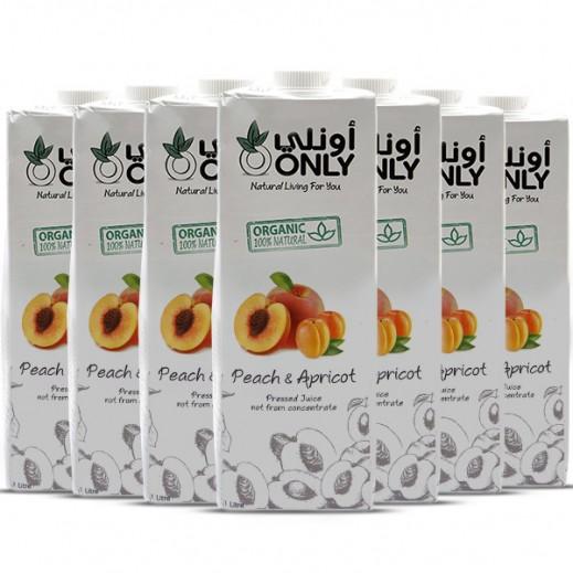 أونلي – عصير الخوخ والمشمش العضوي 27 × 200 مل