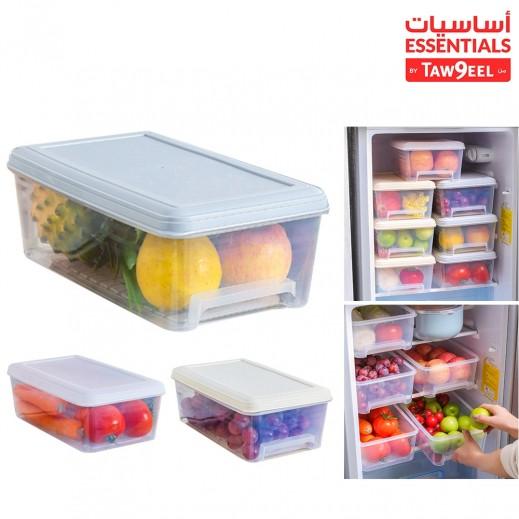 أساسيات توصيل - منظم و حافظ الطعام بلاستيك مع غطاء