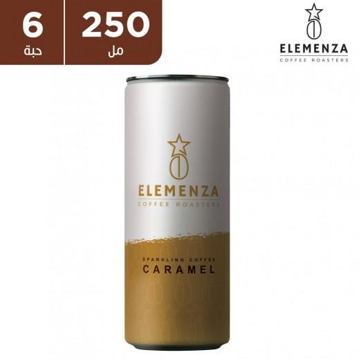 اليمينزا قهوة فوارة بنكهة الكراميل 6 x 250 مل