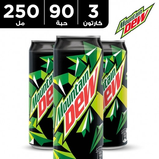 ماونتن ديو – مشروب غازي 250 مل ( 3 كرتون × 30 حبة )