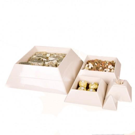 آنيا – صندوق حلويات هرمي 4 طبقات - بيج